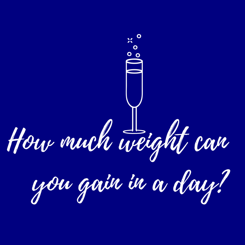 How much weight can you gain in a day?