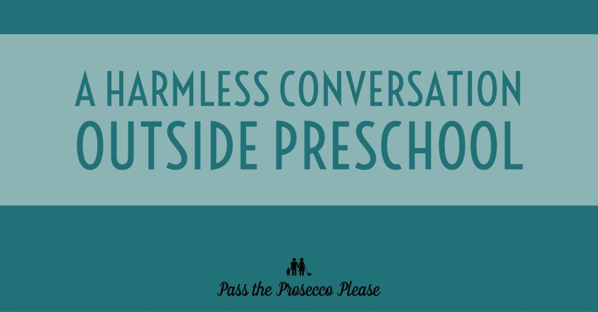 A harmless conversation outside preschool