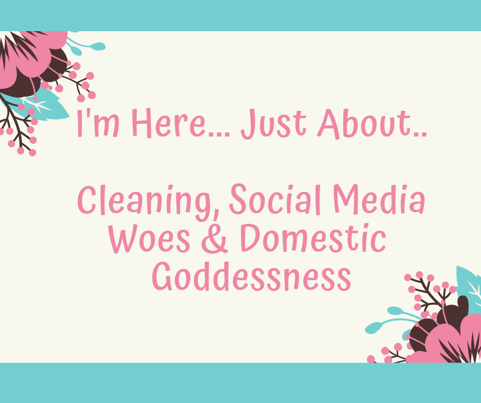 I'm Here… Just About – Cleaning, Social Media Woes & Domestic Goddessness