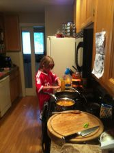 The chef at work.