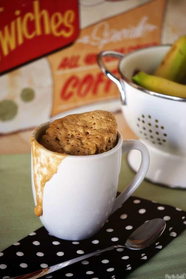 banana bread mug cake easy microwave