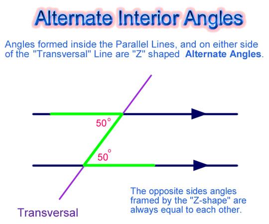 Alternate Interior Angles Examples