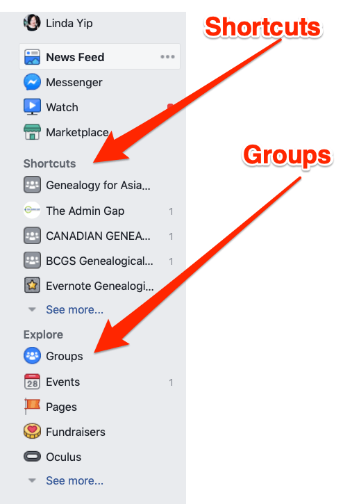 pic of facebook sidebar
