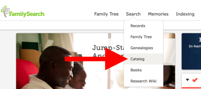 Family Search Catalog