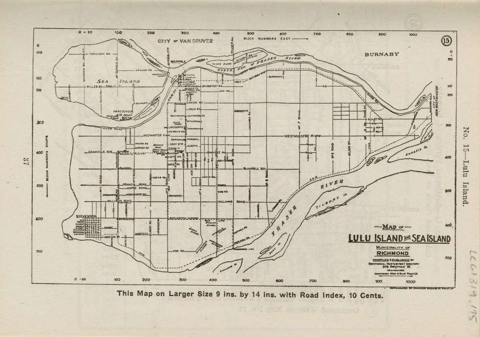 City of Vancouver Archives map of Sea Island