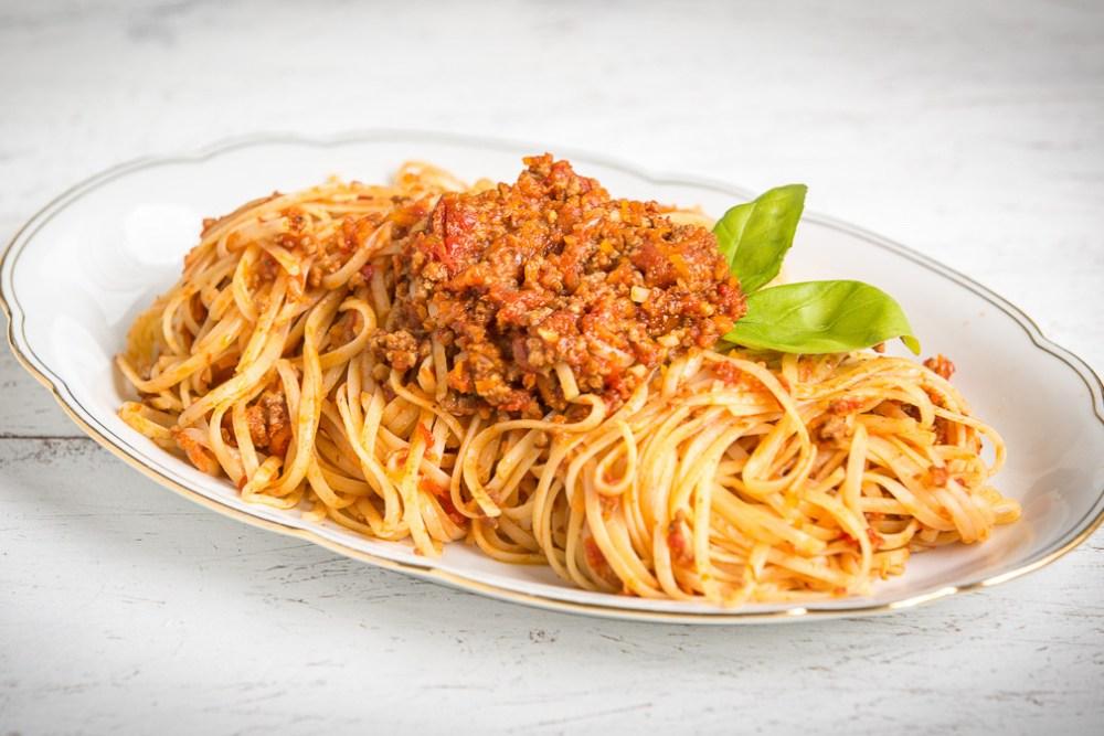 Spaghetti Bolognese, Nudeln mit Hackfleischsauce, Rezept Spaghetti Bolo