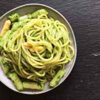 Spaghetti mit Spargel und Bärlauchpesto