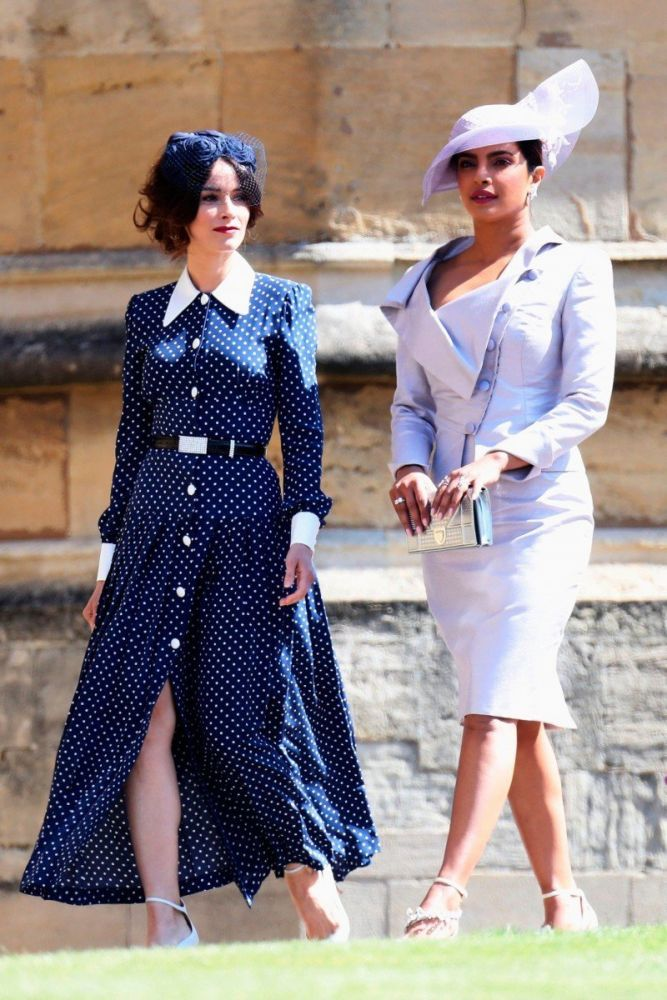 Abigail Spencer and Priyanka Chopra al Royal wedding di Harry e Meghan, foto Chris Jackson/Reuters