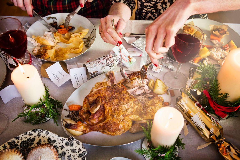 Tipica cena di Natale inglese