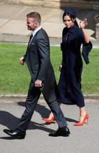 David e Victoria Beckham al Royal wedding di Harry e Meghan, foto Andrew Milligan/Reuters