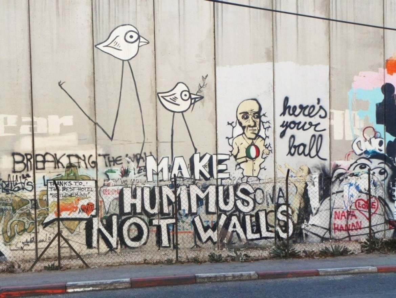 Make hummus not walls a Betlemme