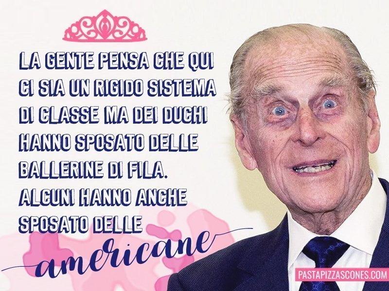 Gaffe del principe Filippo sui duchi che sposano donne americane