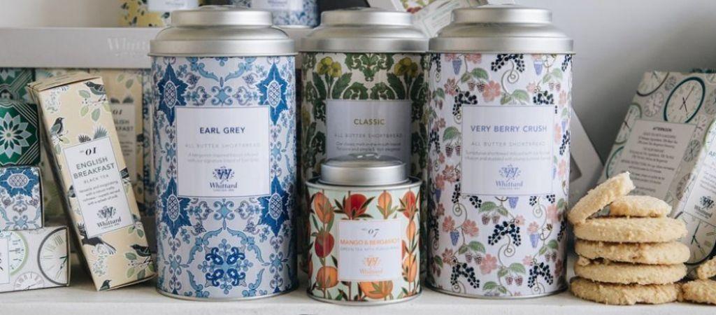 Selezione di tè Whittard