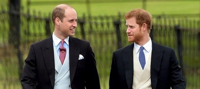 Harry e William al matrimonio di Pippa Middleton