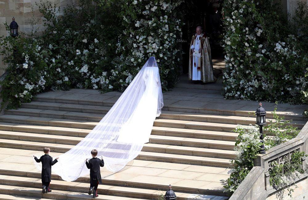 Meghan Markle il giorno del suo matrimonio, foto Getty Images