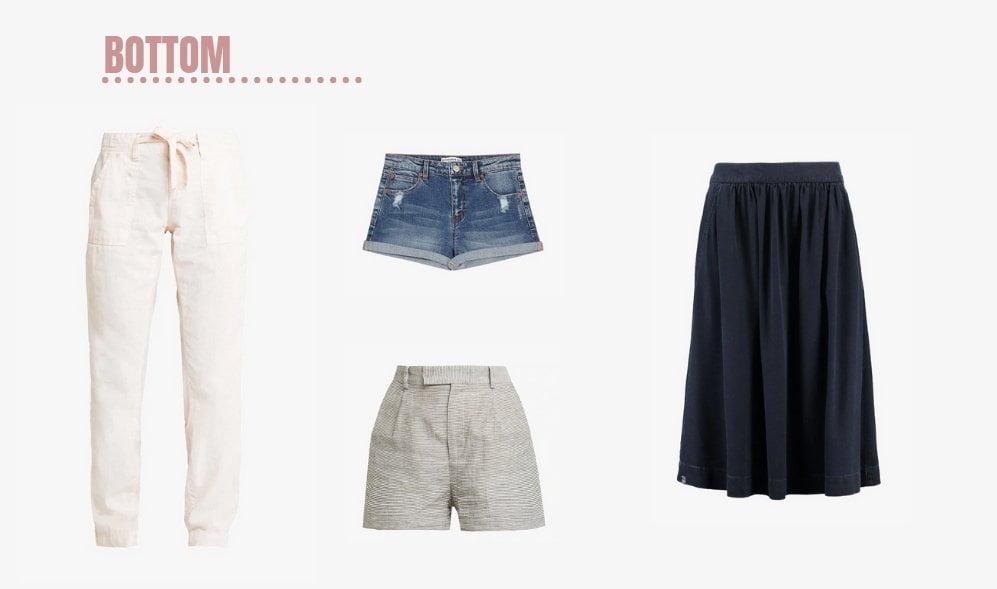 Pantaloni e gonne per creare un capsule wardrobe da viaggio