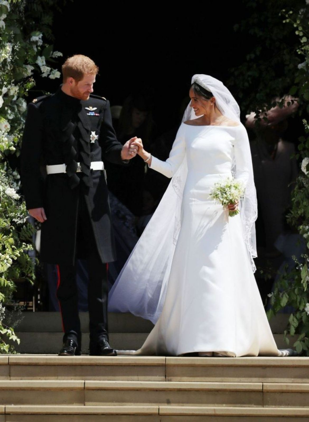 Harry e Meghan al loro matrimonio, foto Getty Images