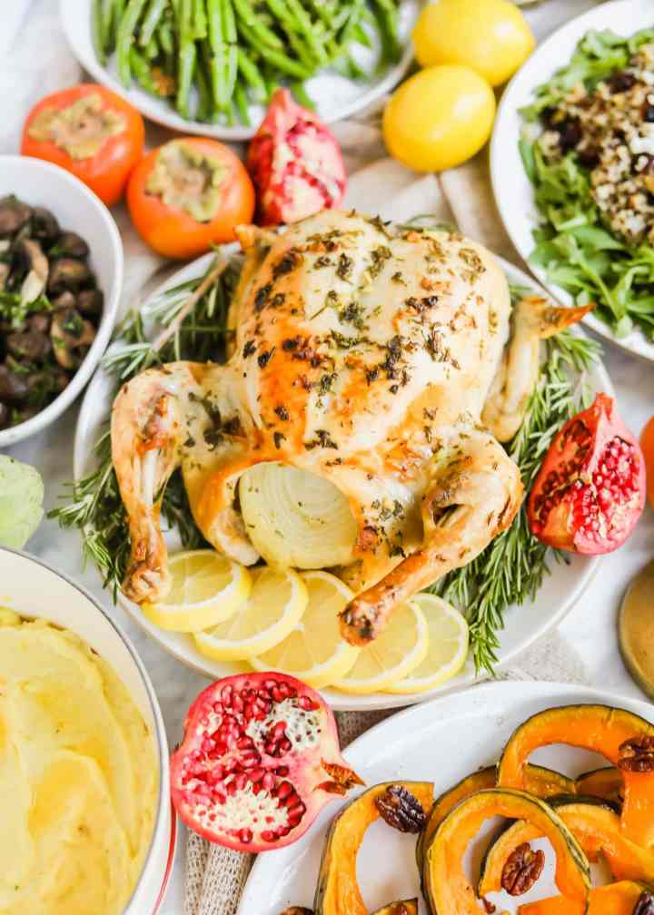 Meyer Lemon Roasted Chicken California Thanksgiving