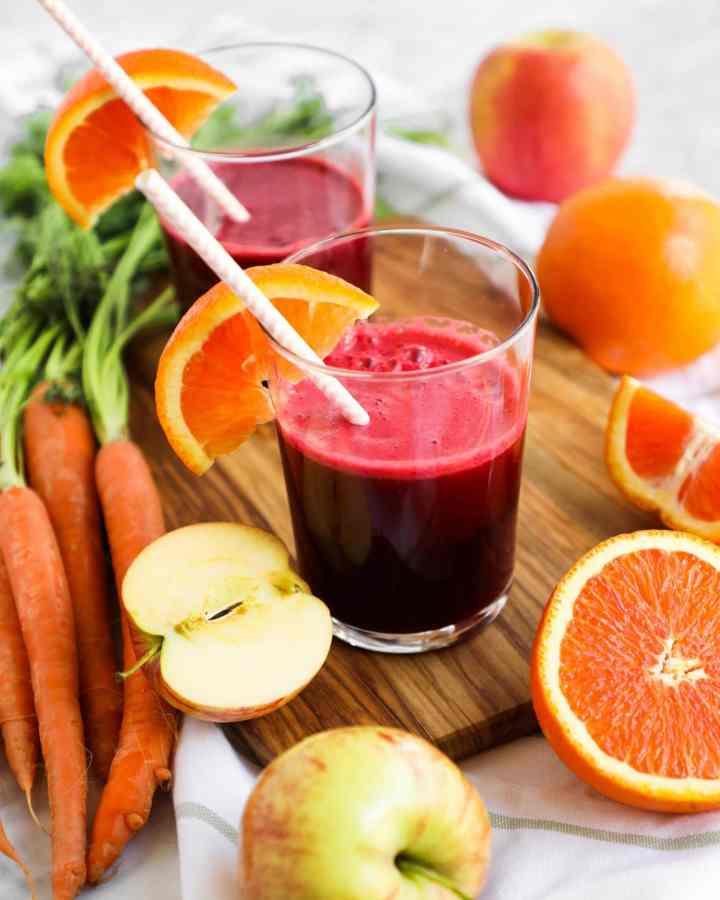 immune boost juice with straw