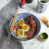 Bacon and Egg Breakfast Rice Bowl