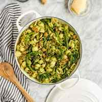 Pesto Orecchiette with Rapini and Sausage