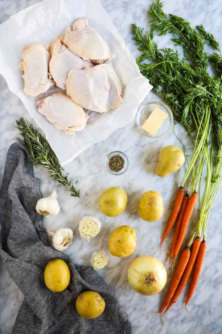 Roasted Chicken Thighs with Vegetables - Pasta Ragazza The Heirloom Pantry