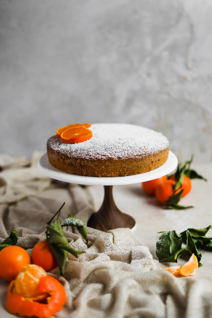 Clementine Olive Oil Cake American Heirloom Walnut Cake Stand