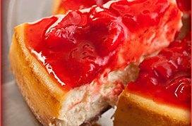 cheescake con fresas frescas