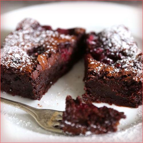 brownie de chocolate decadente