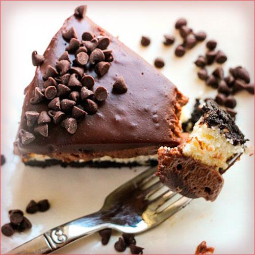 cheescake de chocolate en porciones