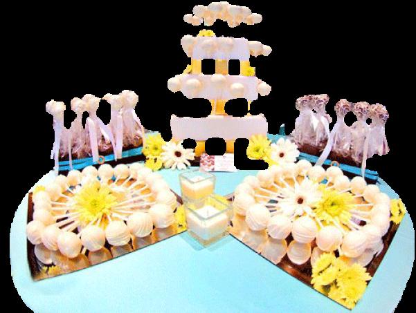 mesa de pop cakes