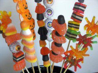 brochetas de dulces