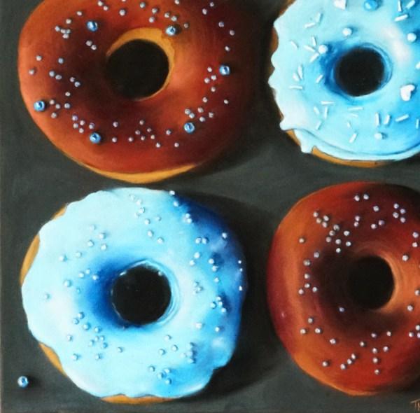 pastellbild Donuts
