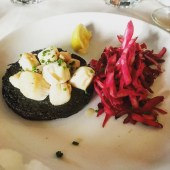 Black Pudding with Scallops