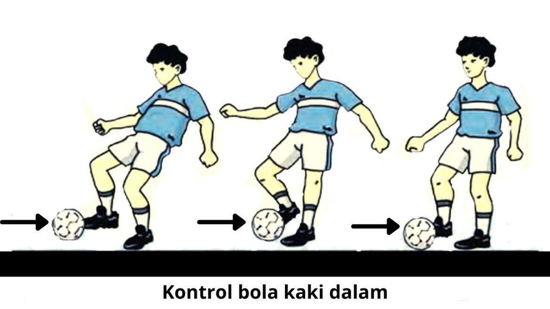 Mengontrol Bola dengan Kaki Bagian Dalam