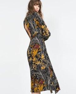 rochie cu imprimeu zara