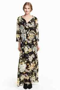 rochie sifon HM motiv floral