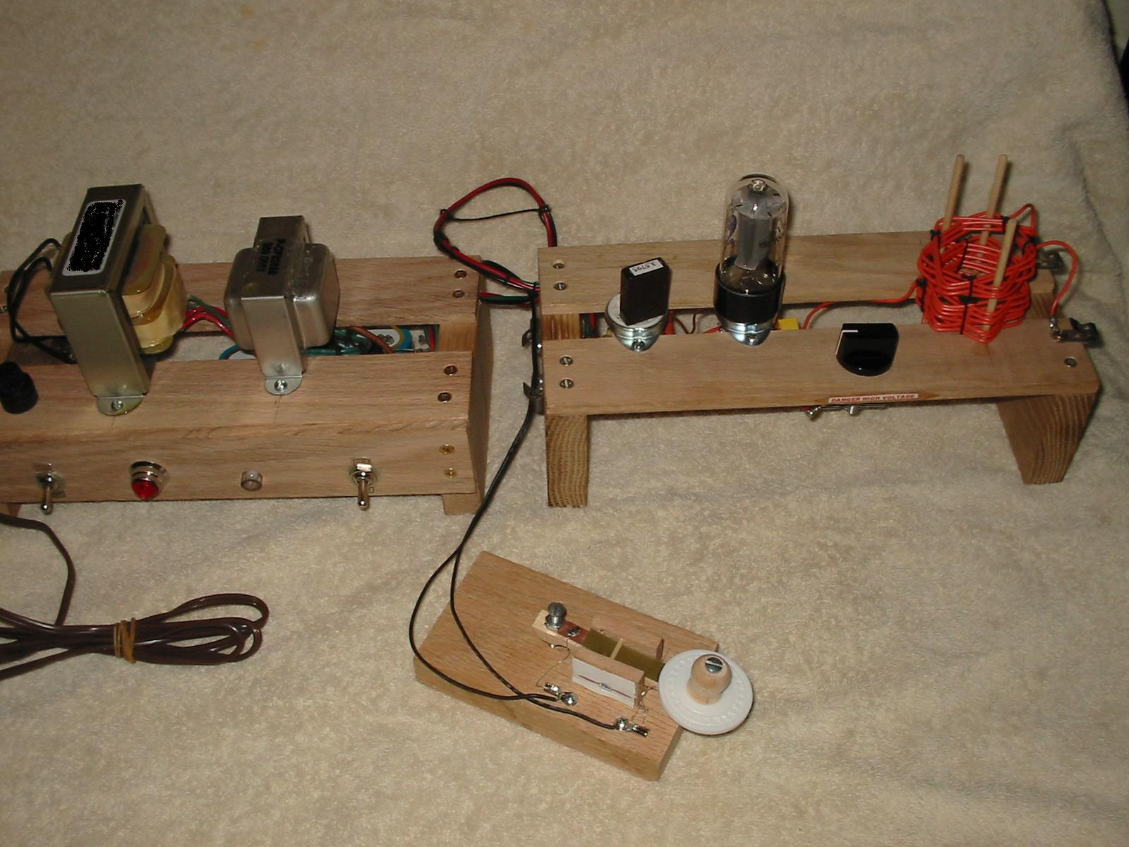 Pastime Projects 6V6 Transmitter Kit, Power Supply, and Key