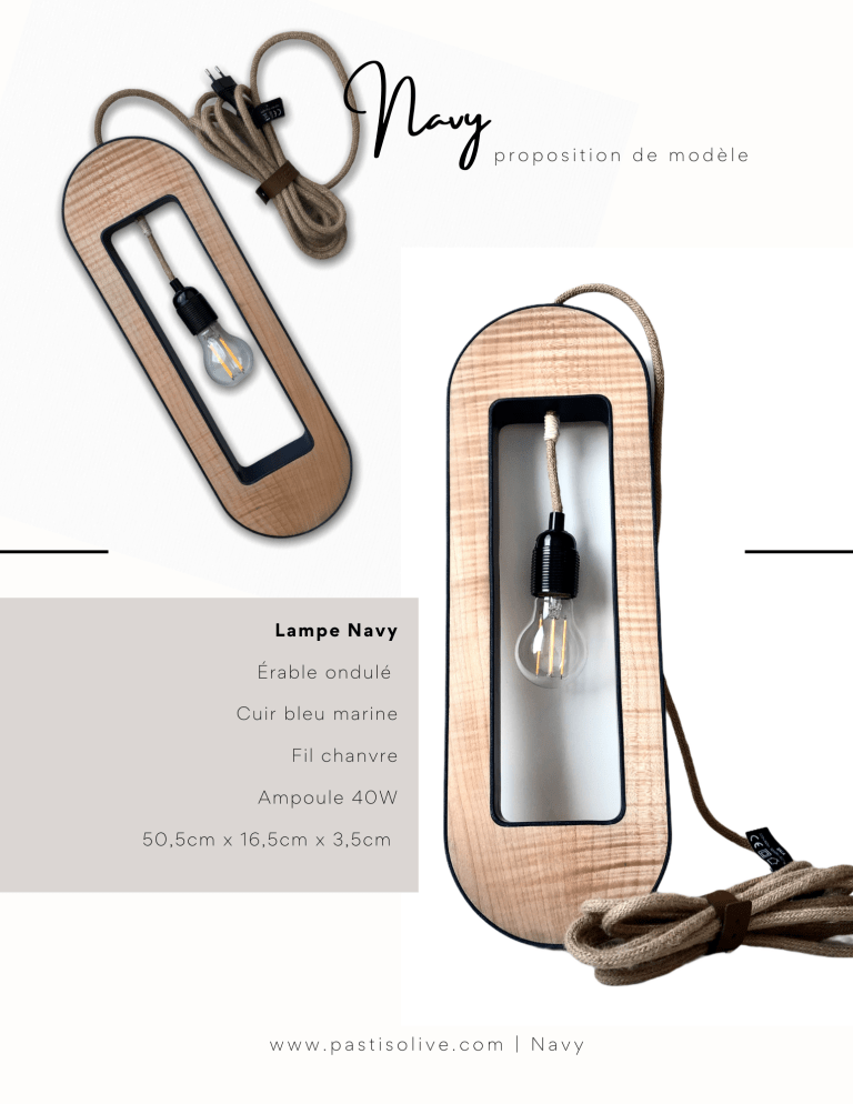 Catalogue Lampes Pastis Olive