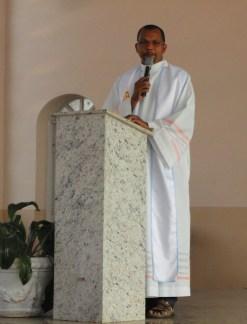 Padre Adão, líder espiritual e animador da Paróquia.
