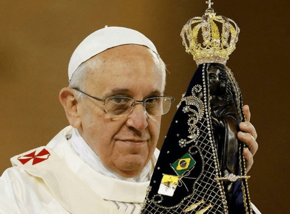 Oração de Consagração do Papa Francisco à Nossa Senhora Aparecida.