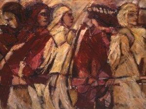 Tamar, Rahab, Ruth, Bathsheba, Mary by Sallie Poet