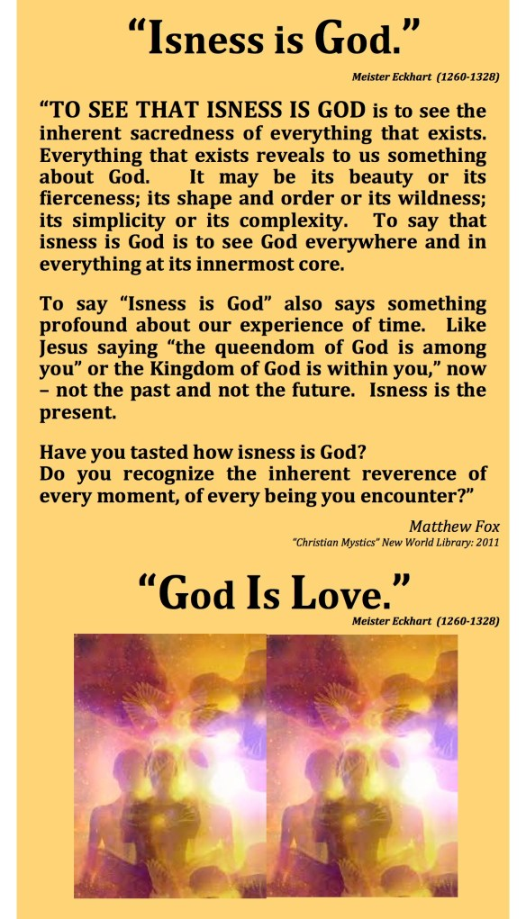 Isness IS God Eckhart Fox Pastor Dawn