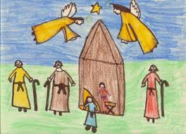 nativity drawning