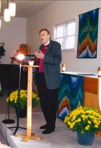Jack speaking at Holy Cross