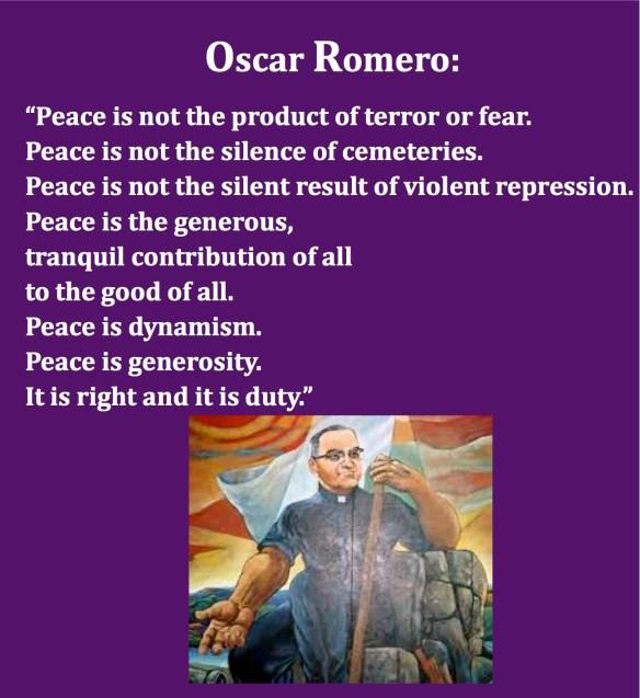 Oscar Romero Peace pastordawn