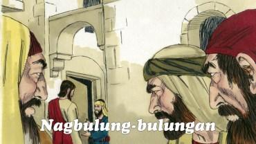 """Nang makita ng mga tao na roon siya tumuloy sa bahay ni Zaqueo, nagbulung-bulungan sila, """"Tumuloy siya sa bahay ng isang masamang tao."""""""