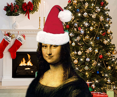 Mona Lisa Christmas