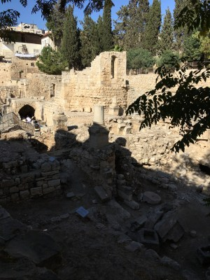 The remains of the Pool of Bethesda in Jerusalem