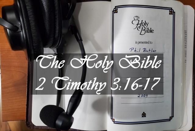 Photo of my Bible and headphones